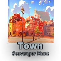 Town Photo Scavenger Hunt and Riddle Scavenger Hunt
