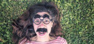 Photo Scavenger hunts - Image of a woman in joke disguise