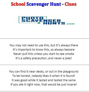 Scavenger hunt clues image