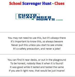 Scavenger hunt clues image