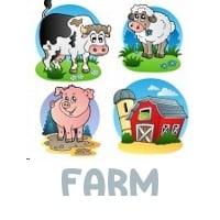 Farm Scavenger Hunt Clues - Image of farm animals
